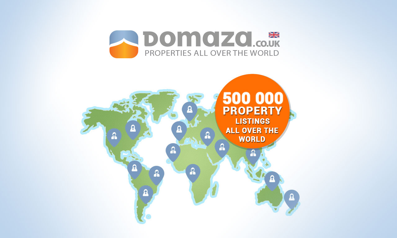 500 000 property listings all over the world